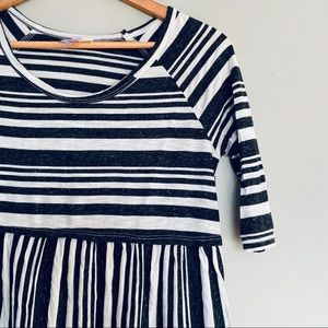 Francesca's XS Navy & White Striped Top